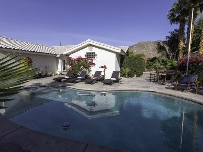 Photo for Beautiful La Quinta Cove salt water pool home on large double  lot - 4BR/3BA.