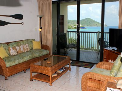Photo for Waterfront, pool front, great view. Lower $ available for longer stays.  F6