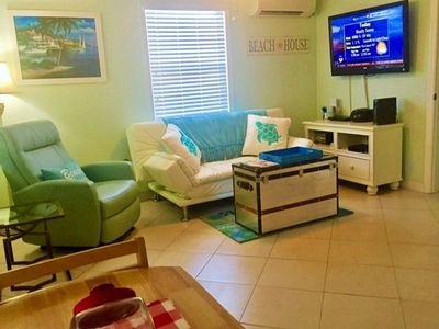 Photo for Beach Condo Steps to Beach & Dock, Fully equipped kitchen! A/C BBQ Wifi Bayview