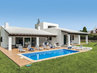 Photo for Large open plan villa with private pool & BBQ plus free Wi-Fi and A/C