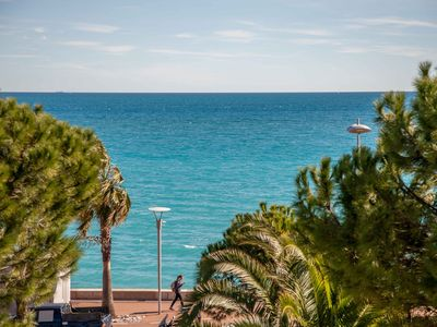 Photo for GRAND STUDIO IN FRONT OF SEA IN CAGNES ON SEA - BEAUTIFUL SEA VIEW