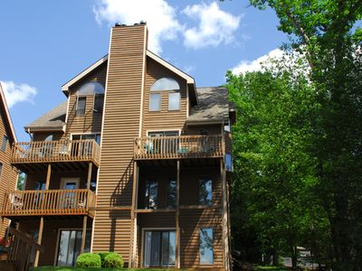 Photo for Picturesque 3 Bedroom lakefront townhome with mountain & lake views!
