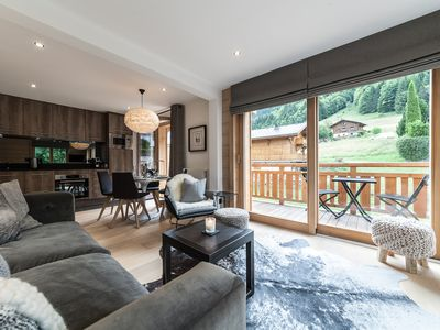 Photo for Luxury 2 Bed Scandi Chic Apartment in Morzine with Panoramic Views