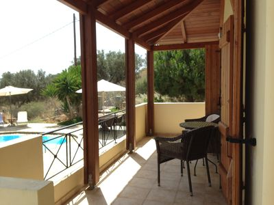 Photo for Private, comfortable villa and pool with sea views
