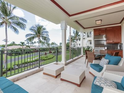 Photo for Luxury ocean view resort condo with golf nearby, complex infinity pool, spacious lanai- Waikoloa Beach Resort