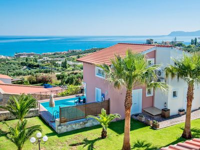 Photo for Holiday Villas with Private Pool, Garden with Sea View, Near to Sandy Beach