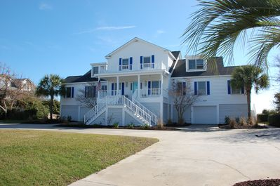 The Blue Terrazz beach house. Unit B is the first floor wing on the left.