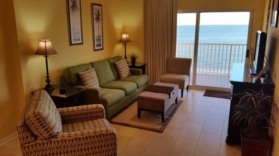 View of Living Room showing Gulf Front Balcony
