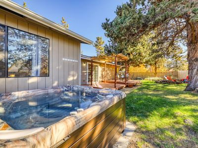 Photo for Charming, dog-friendly home w/ private hot tub, firepit & great backyard!