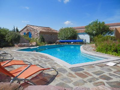 Photo for A Luxurious Minervois Stone Pool Home on the Edge of a Great Village
