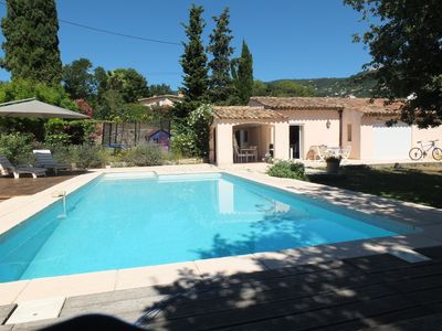 Photo for Villa on the ground floor of 160m2 with swimming pool, quiet, 3 min walk from the village