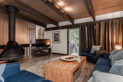 Main living space. IP TV and DVDs surround sound. Fast wifi. Fire w. free wood.