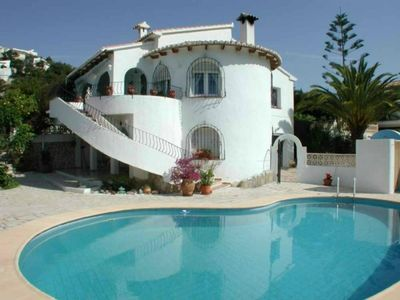 Photo for 3 bedroom south facing villa, all day sun with glorious sea and mountain views