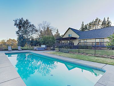 Photo for New Listing! Gorgeous 3,800 Square Foot Wine Country Estate w/ Pool & Hot Tub