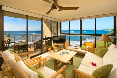 Relax as you take in the panoramic ocean views from this corner unit.