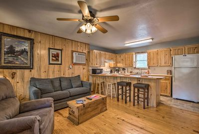 You'll feel right at home in this 1-bedroom, 1-bathroom vacation rental cabin.