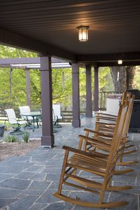 Relax on the front porch, use the gas grill, or unwind in the hot tub