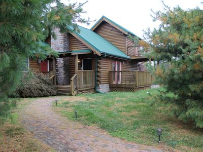 Photo for Beautiful Rustic 2 Bedroom Lone Jack Log Cabin just east of KC Metro