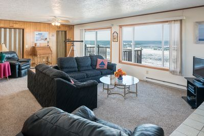 Front room and ocean balcony