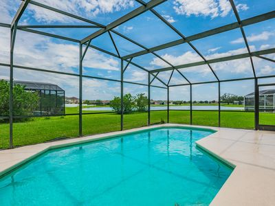 Photo for Beautiful home, lake view, south facing pool, 612