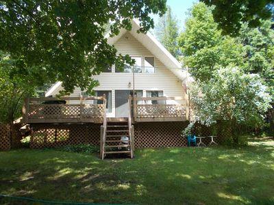Photo for Savage Lake Lodge. Waterfront/Waterfalls 3BD/ 2BA  Sleeps 12+