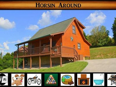 Photo for Horsin Around} Minutes to Pigeon Forge \ Pet Friendly \ Hot Tub \ Pool Table