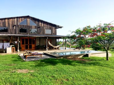 Photo for Tropical Modern Beachfront Hacienda And 9 Acre Farm, with Pool