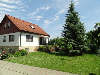 Photo for 3 star apartment with pool, family friendly, with dog, near the lake in great nature