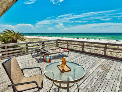 Photo for OPEN 7/6 Week: Big Private BEACH FRONT Deck & Daily Beach Service, King Bedroom