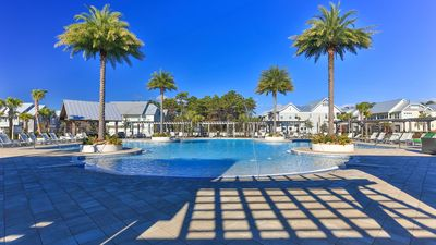 Photo for FAMILY FRIENDLY WITH POOL 'DUNE ALRIGHT' TRIPLEX-PERFECT FOR LARGE GROUPS! 8Bdrm