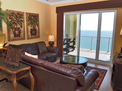 Photo for 4 Bedroom Platinum Designer End Unit Incredible Gulf Views! Free Beach Chairs