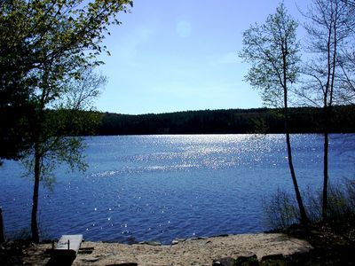 Photo for Quiet lakefront home with private beach near Bridgton, ME