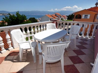 Photo for Two bedroom apartment with terrace and sea view Baška (Krk)