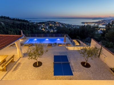Photo for Amazing location with view on town, sea and islands..