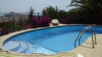 Photo for Villa with Free WIFI, Private Pool, Sea View