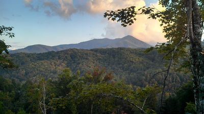 Photo for Fantastic view and more in this 2BR/2BA true log chalet with open floor plan with lots of amenities.