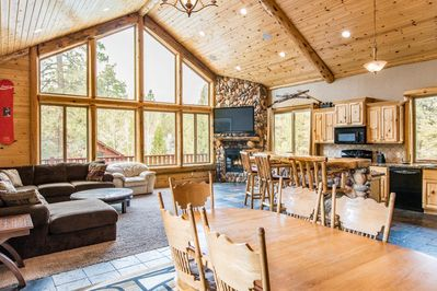 Living Area - Welcome to Big Bear Lake! This spacious home is professionally managed by TurnKey Vacation Rentals.