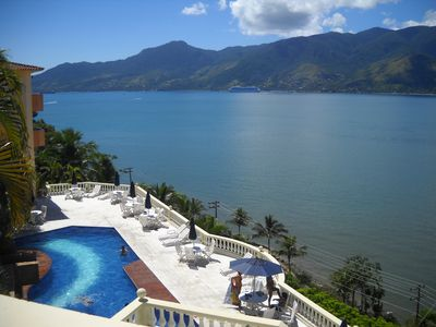 Photo for 4 beds privileged view to Ilha Bela
