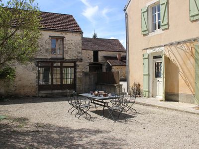 Photo for Beautiful country house with enclosed garden in green surroundings in Burgundy.
