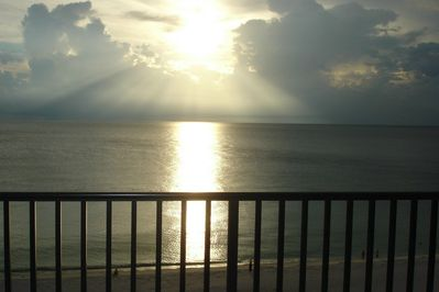 Sea Winds' Unit 705 View from Balcony. Every Sunset is Magical and Different