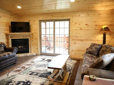 Photo for NEW! Cabin Suite w/ Full Kitchen, Fireplace, and Balcony - Half mile to Berlin!