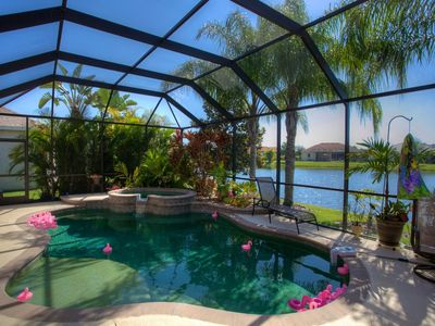 Beautiful view of the lake in a serene and tranquil setting from the lanai