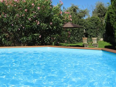 Photo for Large 3bed Villa Apt 100m². Shabby Chic French Furniture. Pool & Garden private