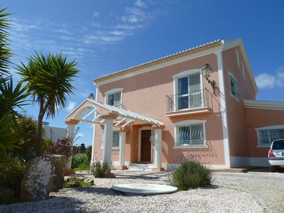 Front of Highview Villa with ample private parking space.