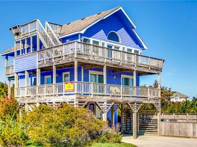 Photo for Beautiful Semi-Oceanfront Home, Waves w/Direct Beach Access-Pool, Hot Tub, Grill