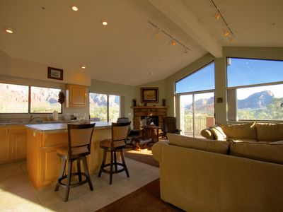 Photo for 180º Red Rock Views, 2 Wrap Around Decks, Central Location, Hikers Dream!