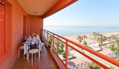 Photo for Luxury Beachfront in Malaga city, wifi, garage, clima control, privilege area