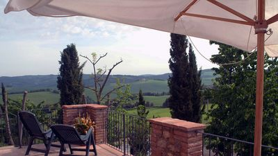 Photo for Old wonderful medieval farmhouse with pool in the heart of Tuscany