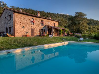 Photo for At The Edge of a Forest 17th Cent. Stone Farmhouse With Pool; Family-Friendly