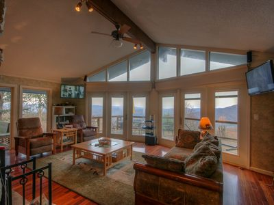 Photo for Mountain Home with Big Views, Hot Tub, Pool Table, 2 King Suites, Stainless/Granite Kitchen